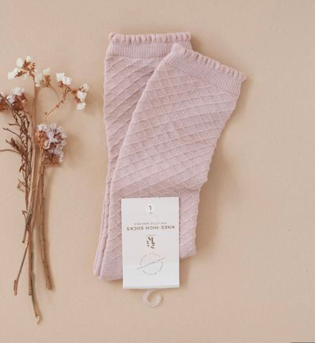 Karibou Picnic Knee-High Sock - Rose Blush