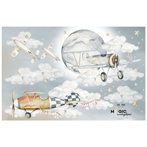 Dekornik Planes Magic is Everywhere Wall Decal