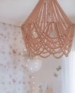 Elok Beaded Chandelier Light - The Grande (Large) Signature blush