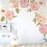 Ginger Monkey Peachy Peony & Rose Wall Decals