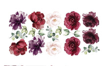 Ginger Monkey Burgundy Peony & Rose Wall Decal