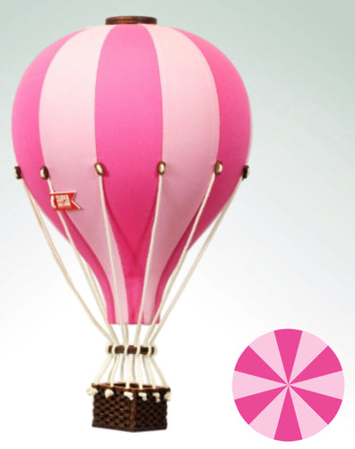 Decorative Hot Air Balloon - Bright Pink & Light Pink Childrens Decor