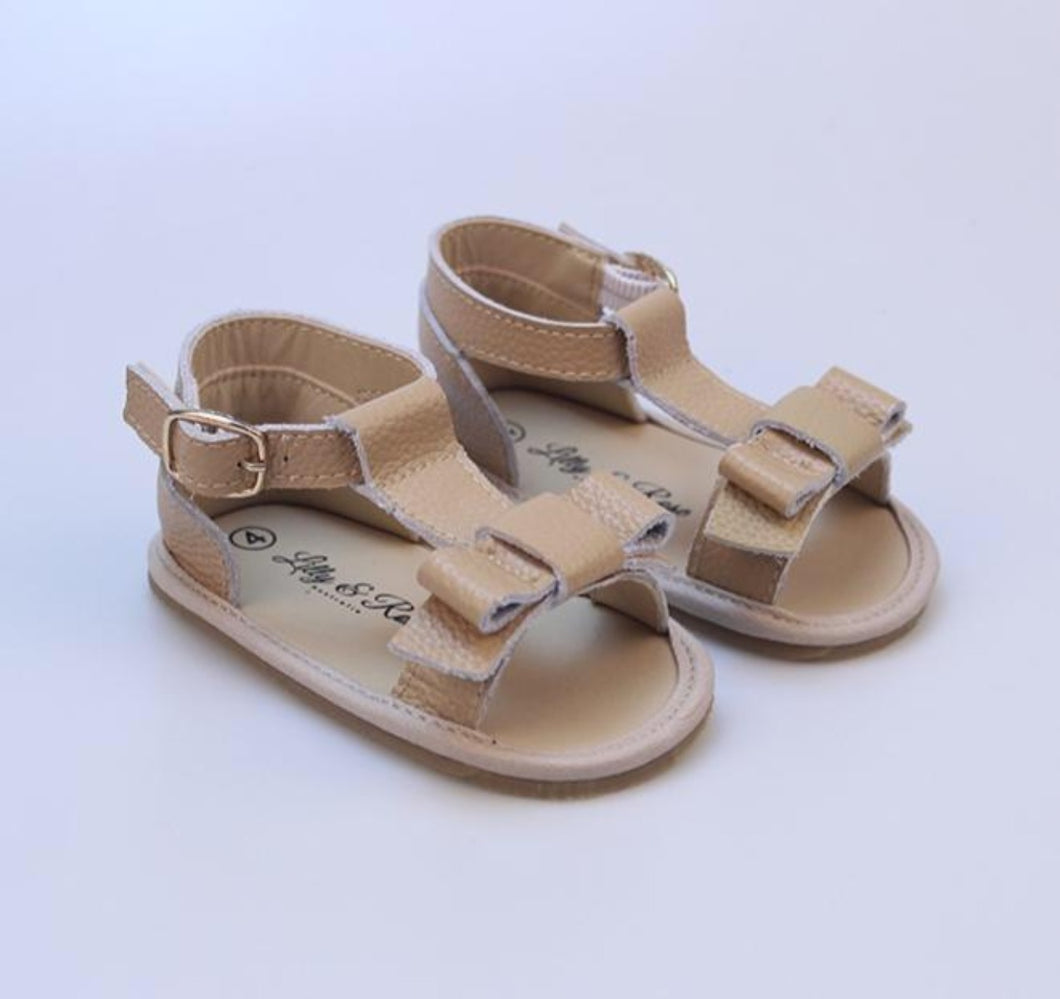 Lilly & Rose 'Tuscan' Soft Sole Leather Sandals - Light Tan