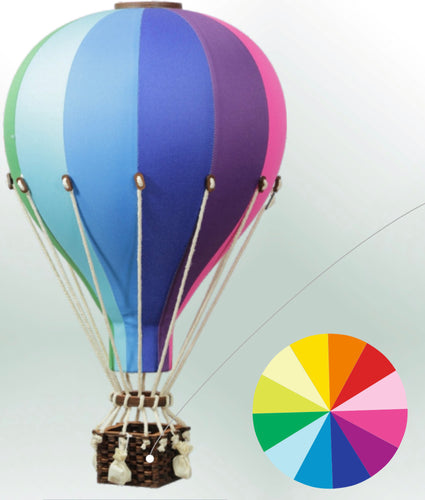Decorative Hot Air Balloon - Multi Coloured