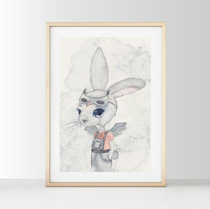Phillip - White Tribe Fox Wall Print