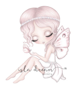 Isla Dream Grace the Butterfly Fairy Print