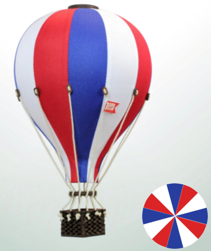 Decorative Hot Air Balloon - Red, White & & Blue