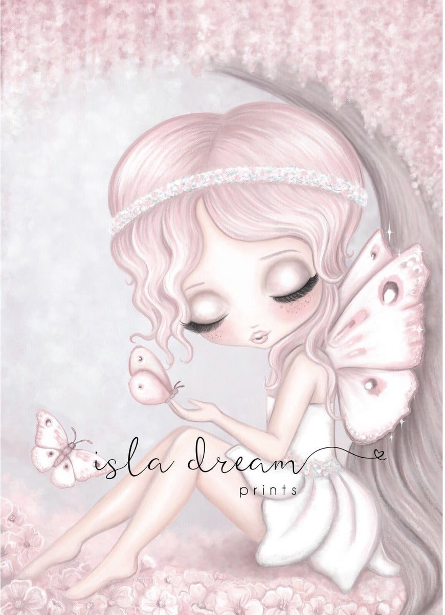 Isla Dream Grace the Butterfly Fairy with Background Print