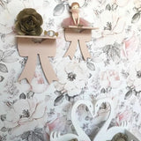 Bow Wall Shelves - Blush Pink
