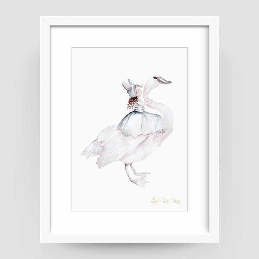 Little Rae Belle Swan Print