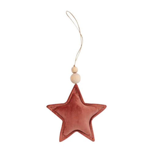 Velvet Pendant Star - Antique Rose
