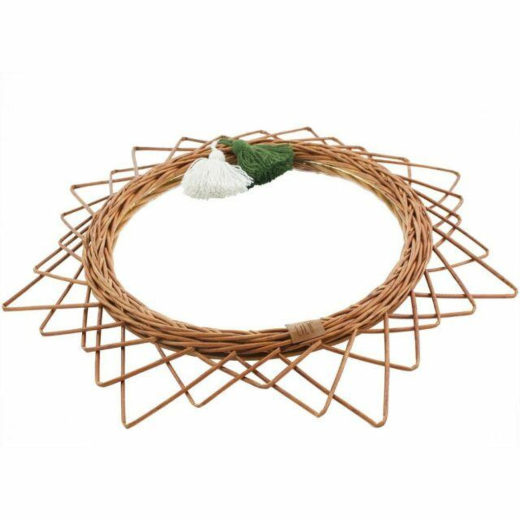 LiLu Wicker Mirror Natural