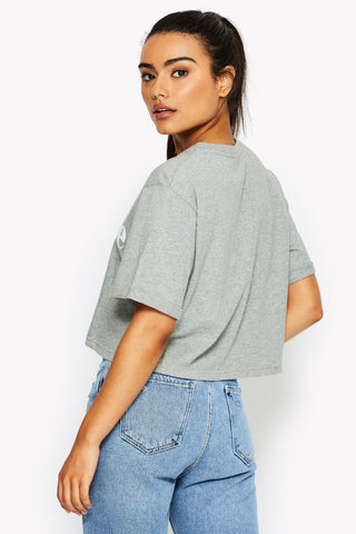 Alberta Crop T-Shirt Grey