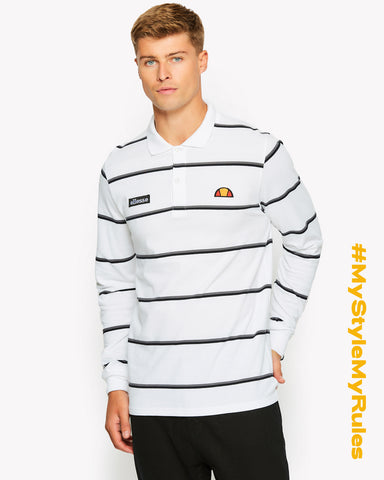 Maffio Long Sleeve Polo White