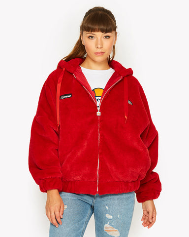 Giovanna Zip Jacket Red