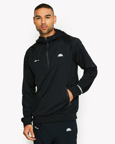 Sterio 1/4 Zip Hoody Black