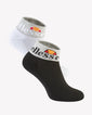 Julie 2Pk Ankle Sock Black White