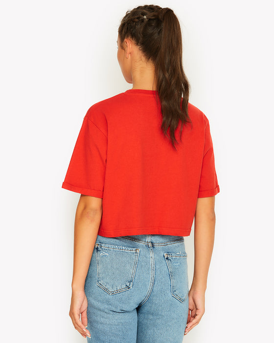 Alberta Crop T-Shirt Red