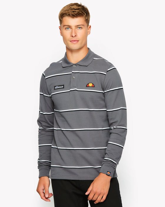Maffio Long Sleeve Polo Grey