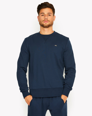 Amedeo Crew Sweat Navy