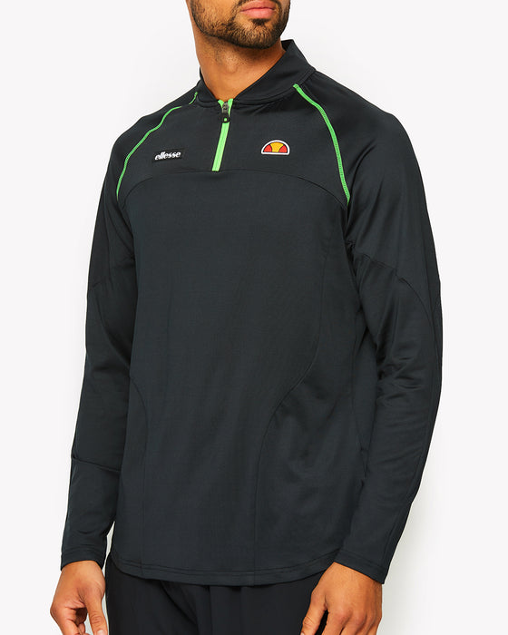 Hisense 1/4 Zip Long Sleeve T-Shirt Black