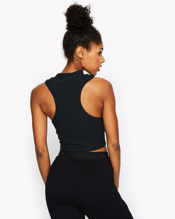 Ersilia Vest Top Black