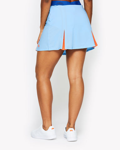Silk Skort Light Blue