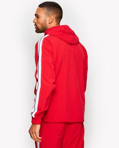 Fighter 1/2 Zip Track Top Red