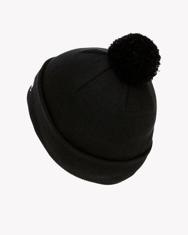 Velly Pom Pom Beanie Black