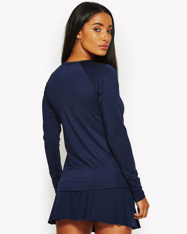 Mazarine Long Sleeve Poly T-Shirt Navy