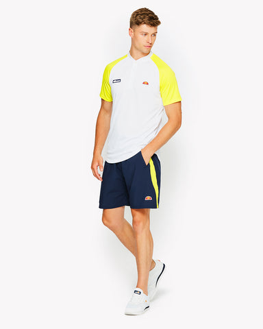 Hawk Poly Polo White Yellow