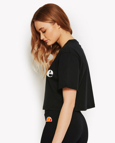 Alberta Crop T-Shirt Black