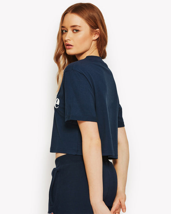 Alberta Crop T-Shirt Navy