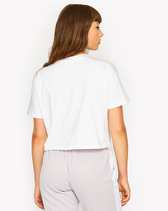 Badia Crop T-Shirt White