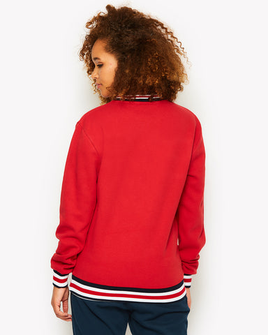 Rodella Crew Sweat Red