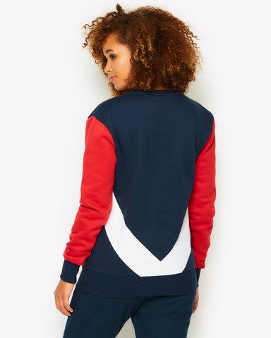 Valesia Crew Sweat Navy