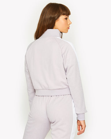 Pinzolo Funnel Neck Top Purple