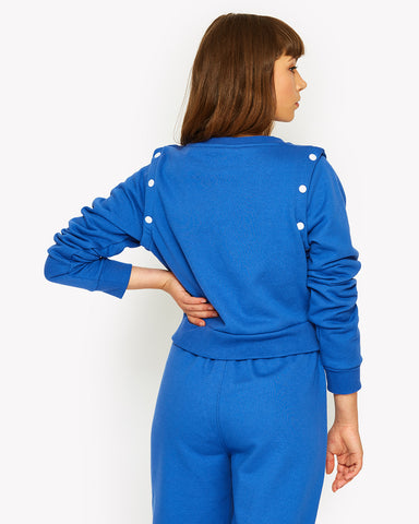 Tretino Crop Sweat Blue