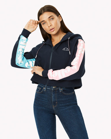 Ledda Fleece Top Navy