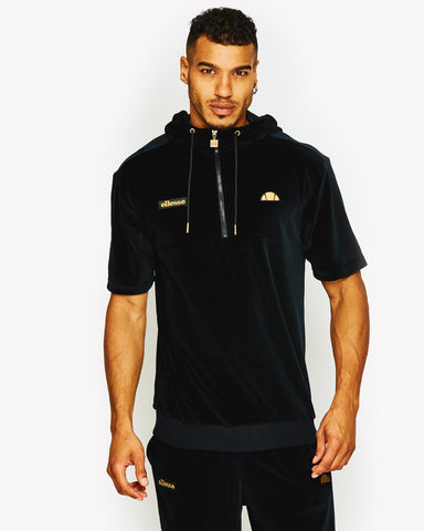 Rocca Short Sleeve Hoody Black