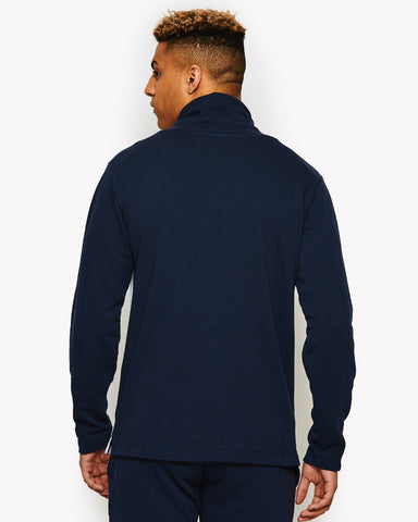Cierro Fleece Funnel Neck Top Navy