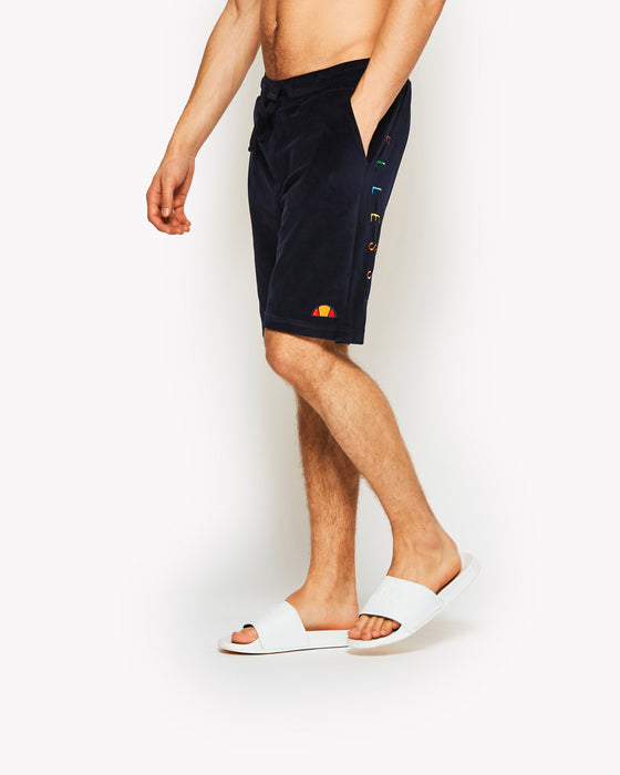 Asiago Velour Shorts Navy