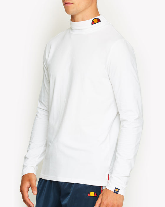 Amica Roll Neck Top White