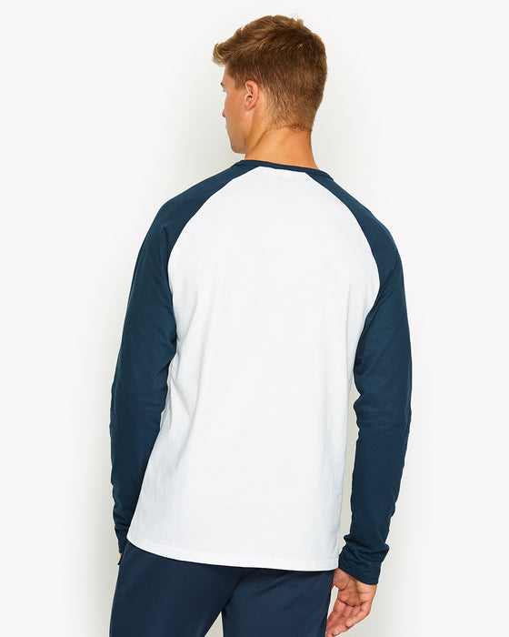 Thero Long Sleeve T-Shirt White/Navy