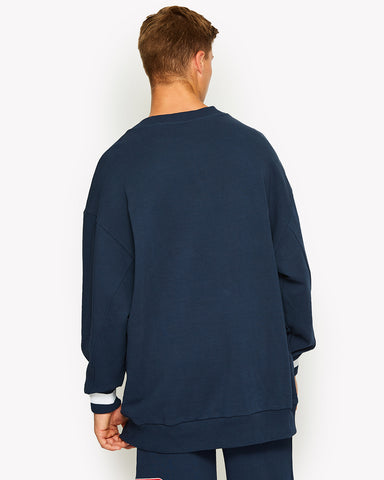 Durono Oversized Crew Sweat Navy