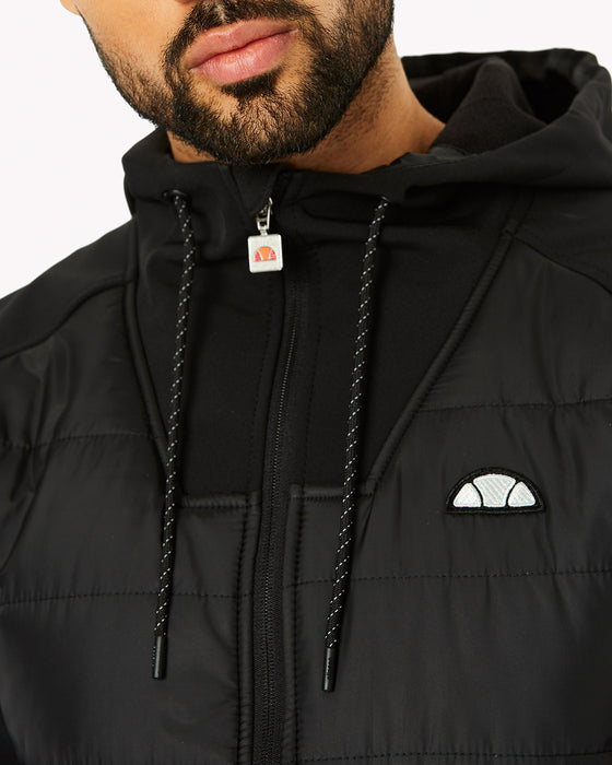 Staggio Hooded Top Black