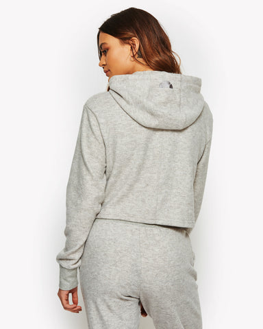 Liveri Crop Hoody Grey