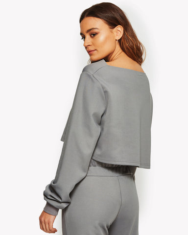 Silenzio Long Sleeve Top Grey