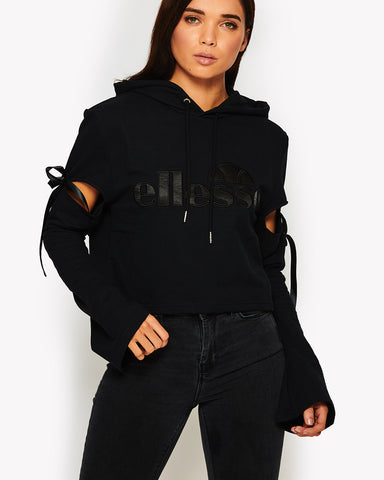 Falchi Crop Hoody Black
