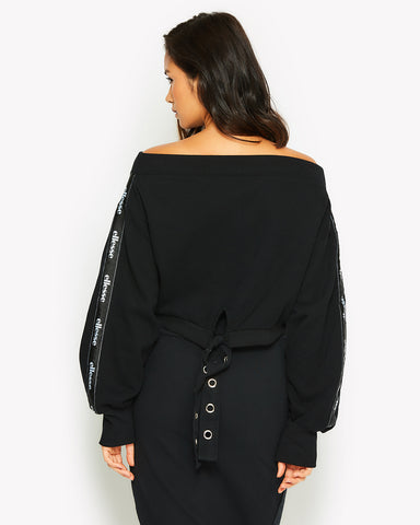 Leonie Crop Fleece Black